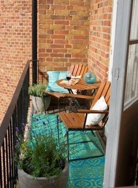 Подборка прекрасных идей для небольших балконов - 4