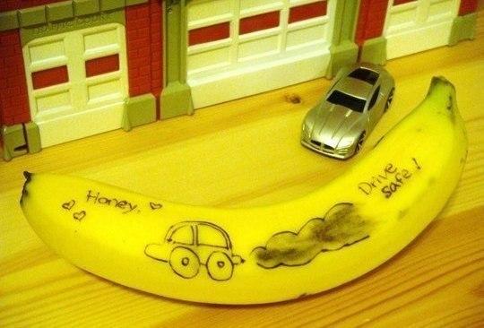 Порадуйте своих близких креативным посланием.Чтобы оставить записку на банане не обязательно ... - 4