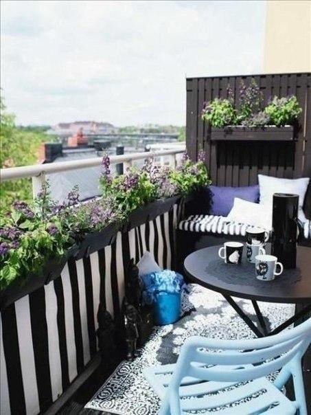Подборка прекрасных идей для небольших балконов - 6