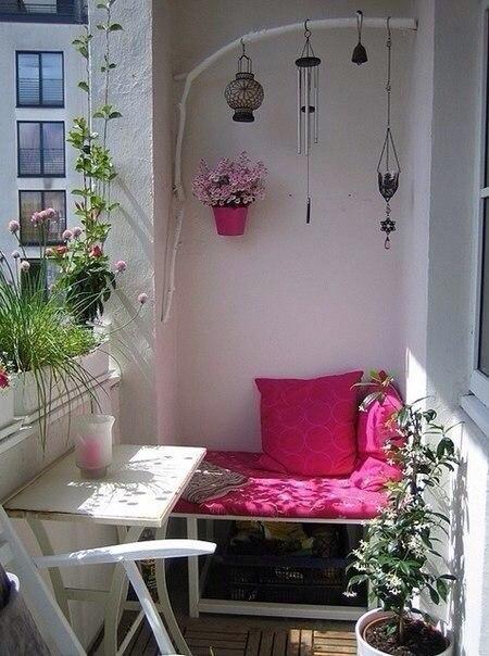 Подборка прекрасных идей для небольших балконов - 5