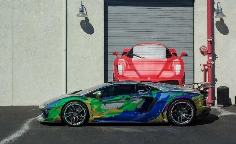 ART CAR Lamborghini Aventador Roadster 2014.#авто@yakor.blog - 4