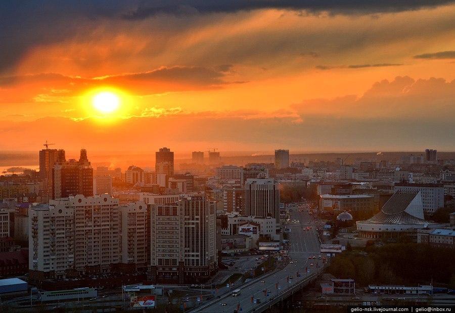 Новосибирск с высоты. - 2