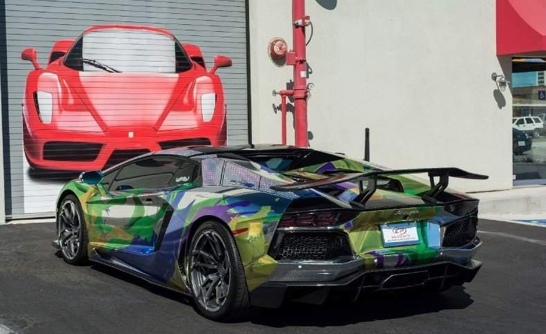 ART CAR Lamborghini Aventador Roadster 2014.#авто@yakor.blog - 5