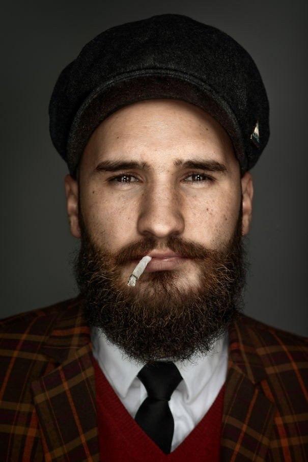 Портеры бородатых мужчин от фотографа Zia Vey - 8