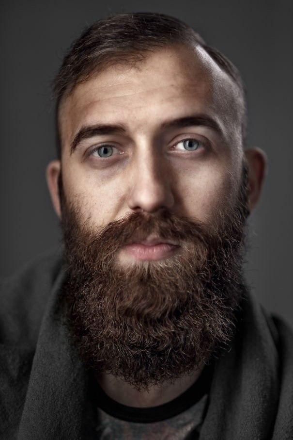 Портеры бородатых мужчин от фотографа Zia Vey - 9