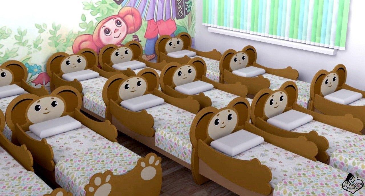Картинка кроватки ребенка в садике