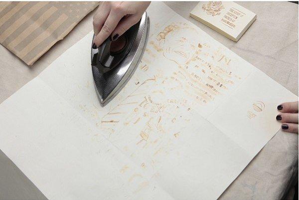 Рисуем молоком на бумаге, оставляем впитаться и высохнуть, а через 30 минут проглаживаем утюгом. Как ... - 3