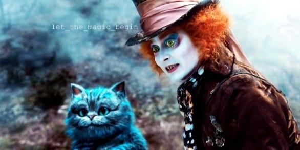 картинка шляпник чеширский кот