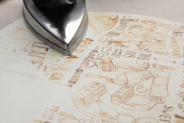 Рисуем молоком на бумаге, оставляем впитаться и высохнуть, а через 30 минут проглаживаем утюгом. Как ... - 4