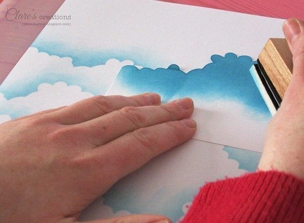 Открытка с облаками своими руками