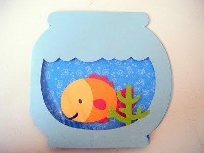 шаблон для открытки аквариум глаза