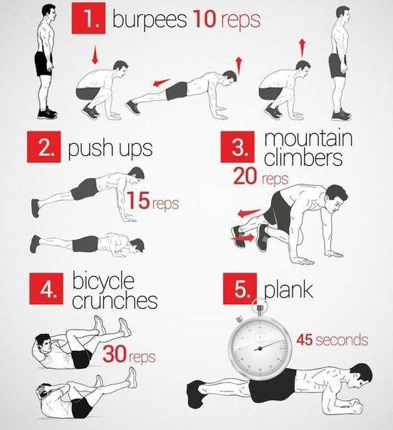Убойное кардио за 10 минут утром. Выполняй все упражнения без перерыва и приводи все тело в тонус!