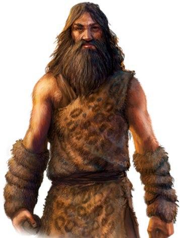 Картинка древний человек в шкурах