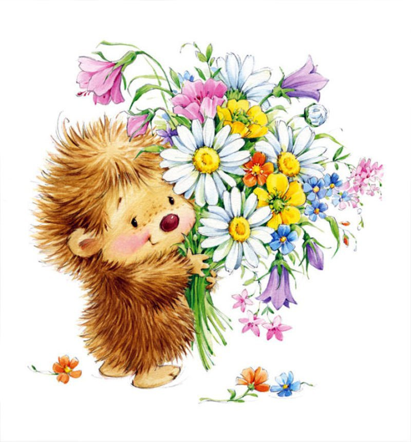 расскажем веселые картинки с цветами простейшие