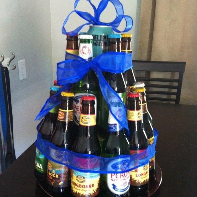 поздравления к подарку торт из пива будут интересны тем