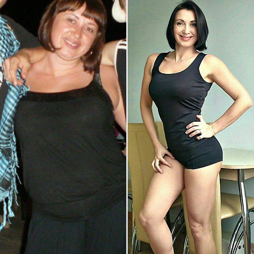 Фото до и после химической диеты