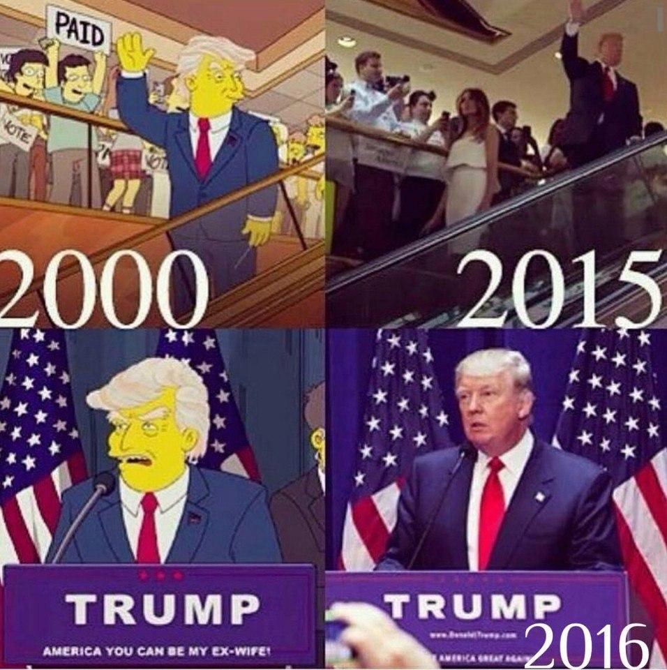 Картинка трамп в симпсонах