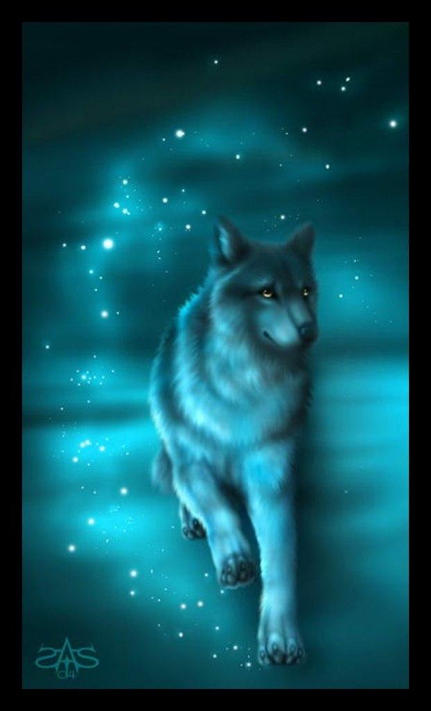 живые анимационные картинки волка этом