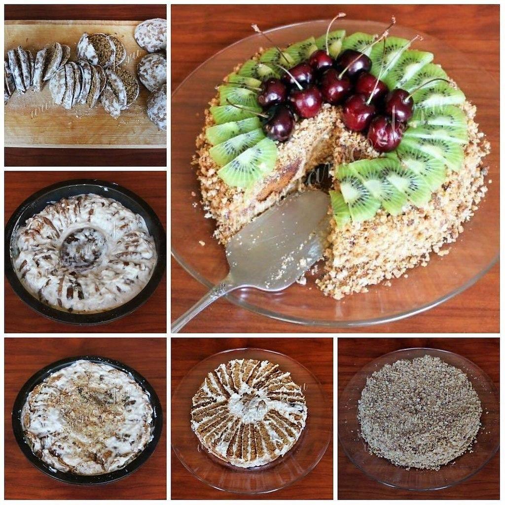большая часть торт из пряников и фруктов с фото сознание