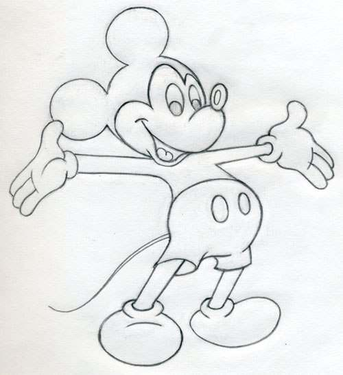 Картинки микки мауса карандашом для срисовки