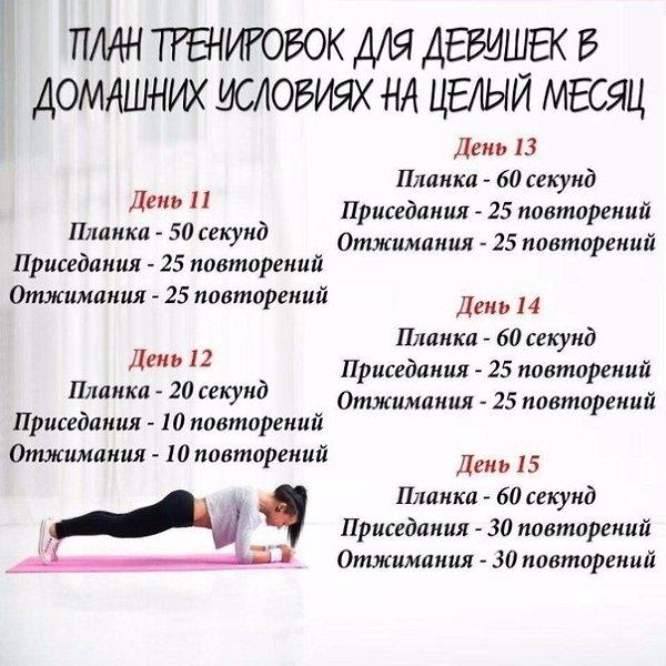 Программа Похудения Домашних Условиях. План питания и тренировок для похудения за месяц
