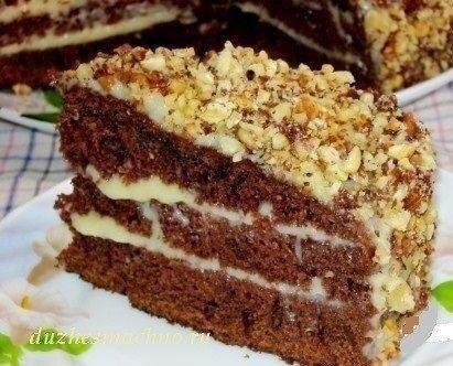 Шоколадный торт на кефире «Фантастика».Очень простой и необычный рецепт вкусного торта. Приготовить ...