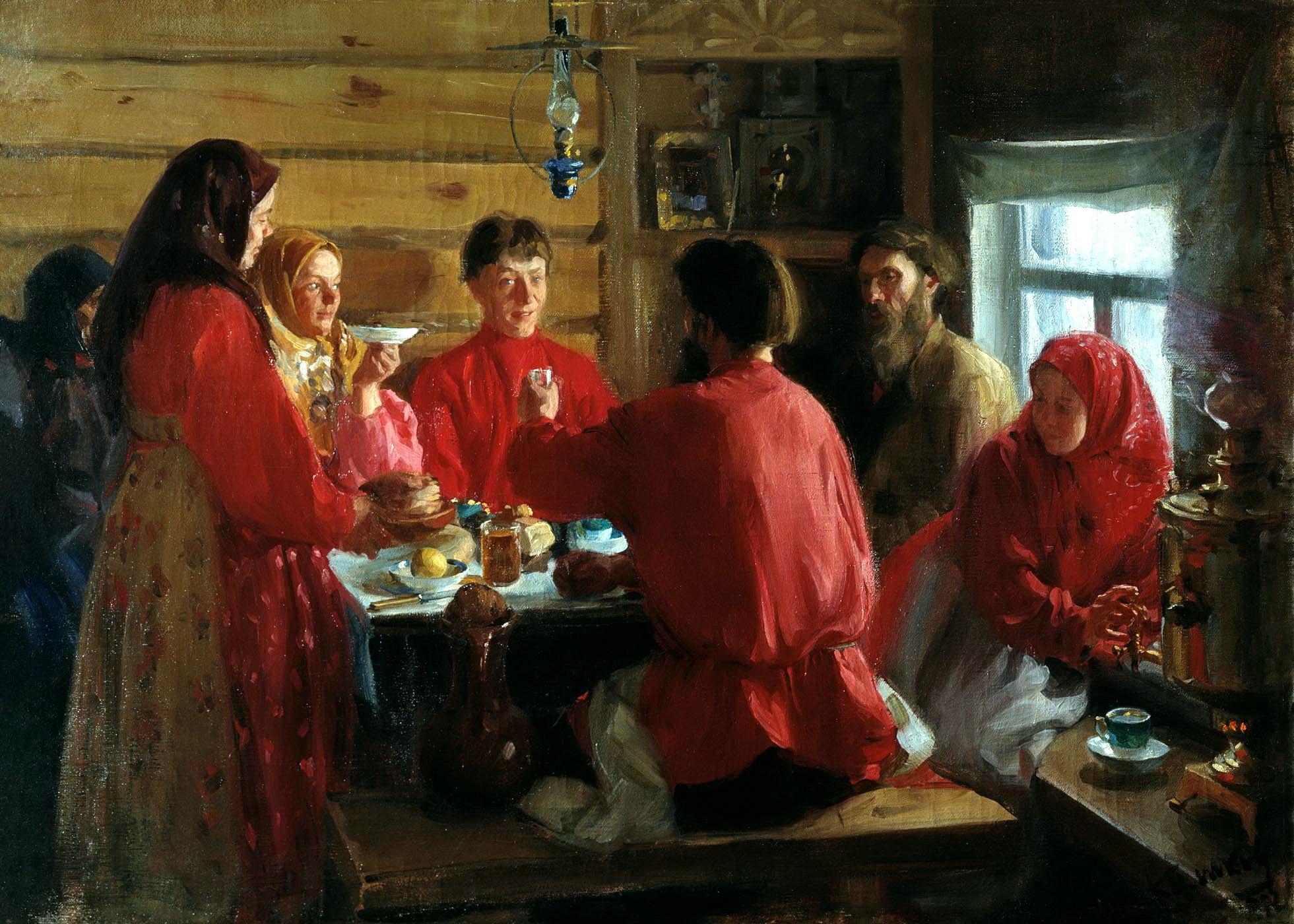 Картинка крестьянской семьи