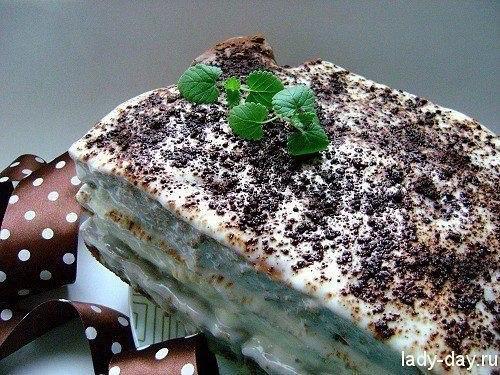 Торт на кефире-сметанник.ИнгредиентыДля теста:- яйца – 5 шт.;- кефир – 500 мл.;- сахар — 350 грамм;- ...