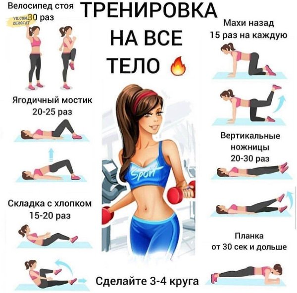 Комплекс эффективный упражнений для похудения