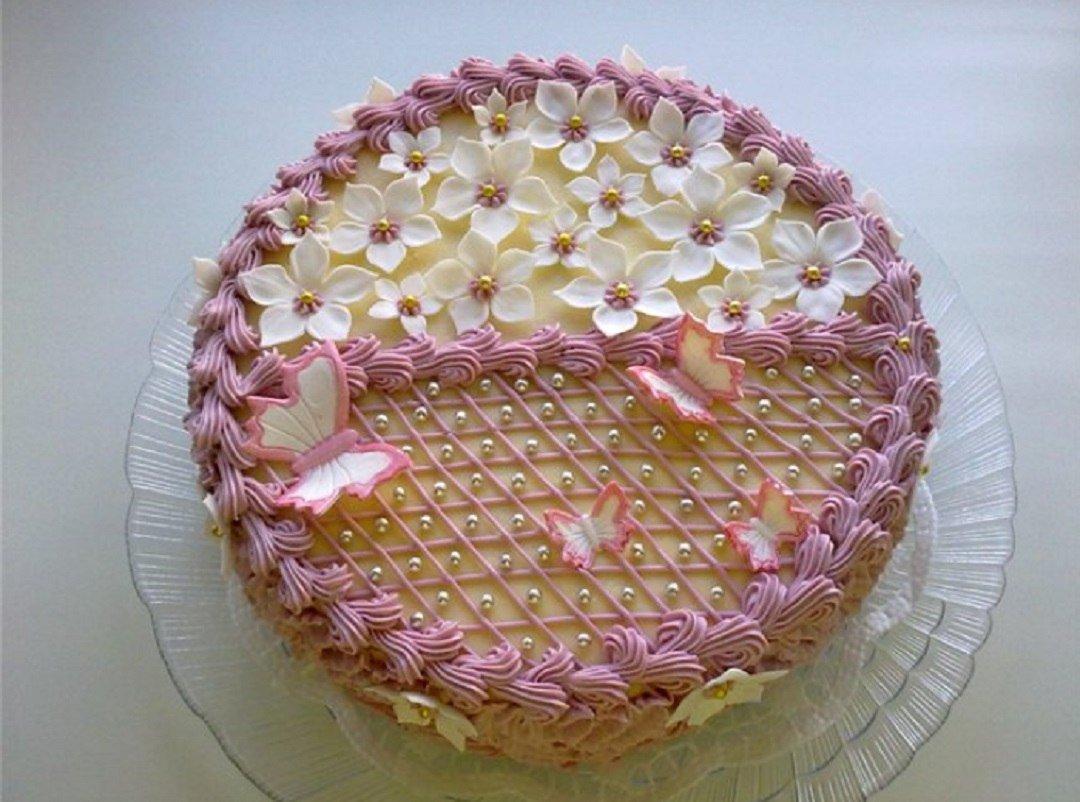 отделка тортов кремом фото женщины считают