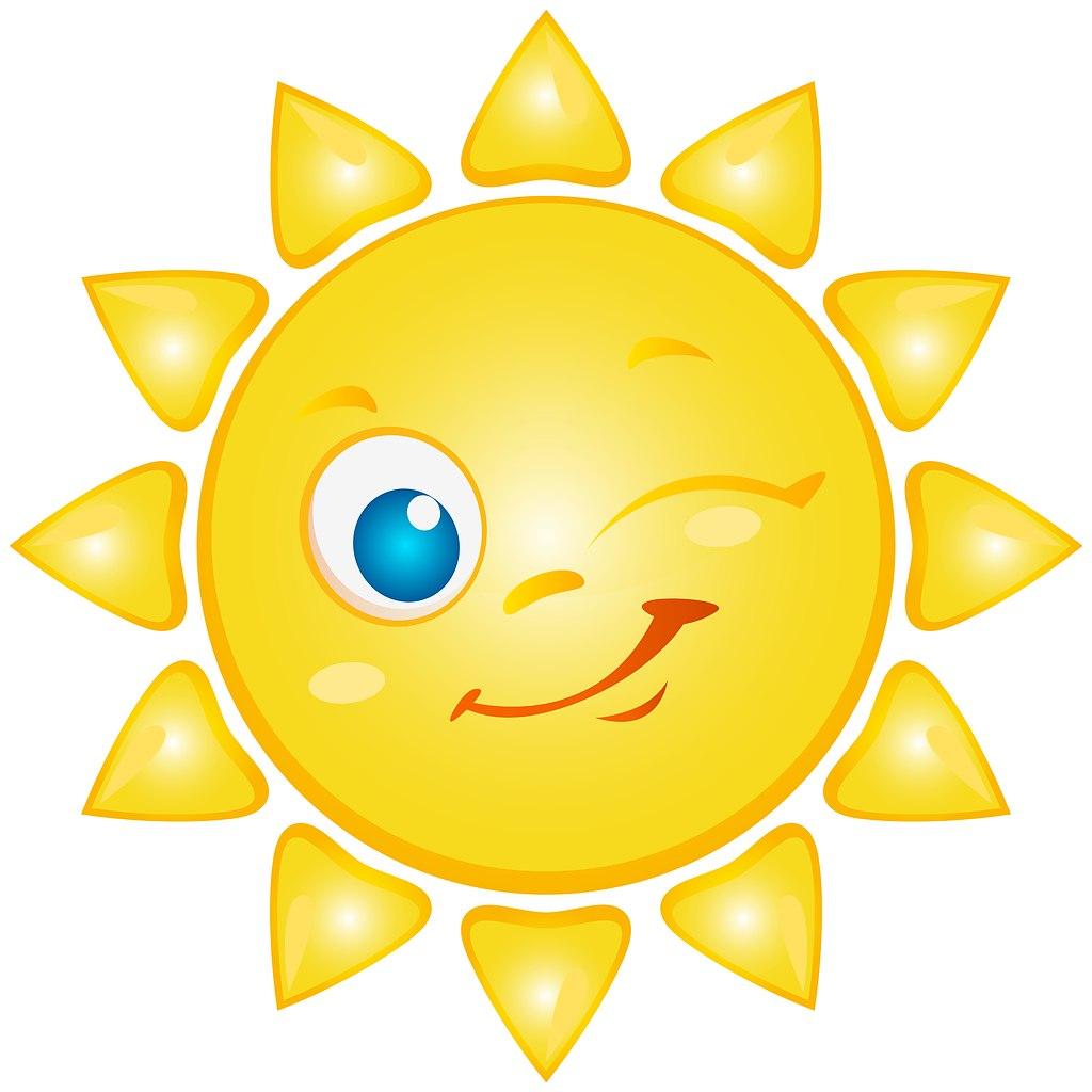 Картинка что на солнце смайлик