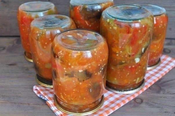 10 вкусненых и обалденных салатов на зиму! 1. Овощной салат на зиму Ингредиенты 1кг-баклажанов ... - 8