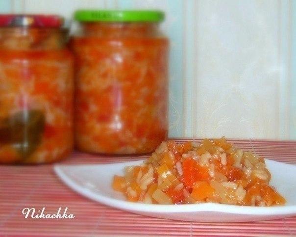10 вкусненых и обалденных салатов на зиму! 1. Овощной салат на зиму Ингредиенты 1кг-баклажанов ... - 7