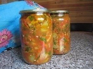 10 вкусненых и обалденных салатов на зиму! 1. Овощной салат на зиму Ингредиенты 1кг-баклажанов ... - 9