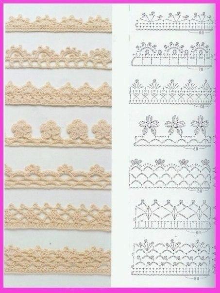 Схемы для обвязывания края крючком - 6