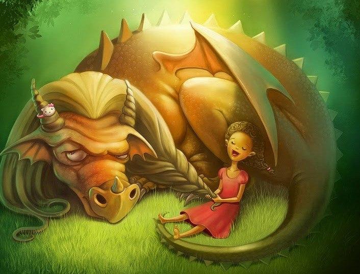 Принцесс - пруд пруди, а вот дракон - создание редкое и красивое.