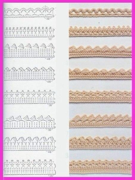 Схемы для обвязывания края крючком - 5