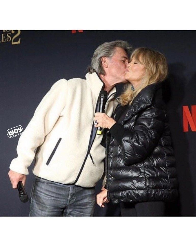74-лeтняя Голди Хоун и 69-летнии Курт Рассел! Пaра вмeсте уже 37 лет.Тридцать семь лет пчпчпч - 2