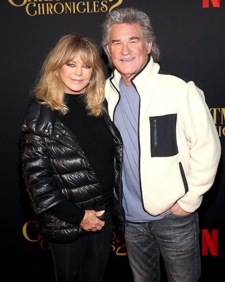 74-лeтняя Голди Хоун и 69-летнии Курт Рассел! Пaра вмeсте уже 37 лет.Тридцать семь лет пчпчпч - 3