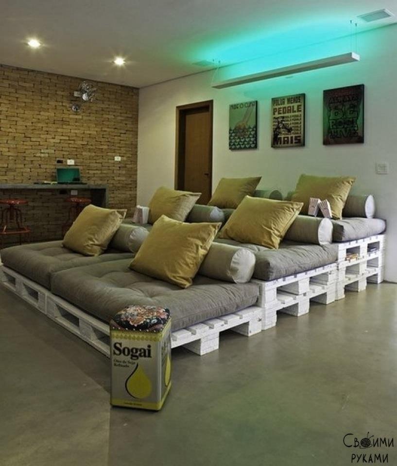 Бюджетные идеи для мебели из палет - 10
