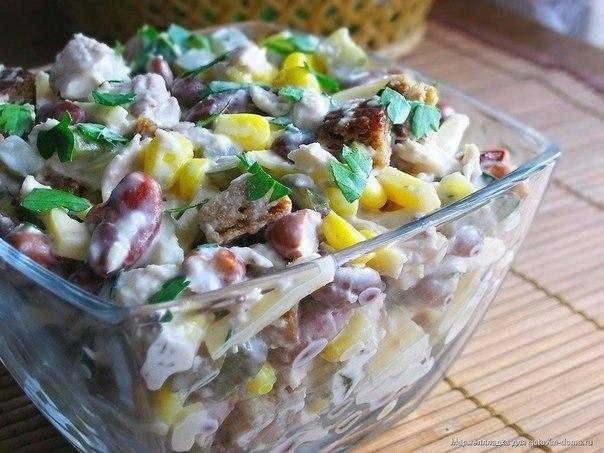 9 вкуснейших салатов на каждый день! Подборка: 1. Салат с сухариками. 2. Салат с копченым сыром. 3. ... - 6